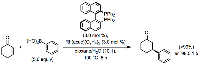 Rhodium-catalyzed 1,4-addition of organoboron reagents - Organic